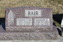 """Matilda A. """"Tillie"""" <I>Gouker</I> Bair"""