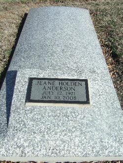 Clara Jeane <I>Holden</I> Anderson
