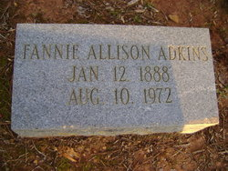 Fannie <I>Allison</I> Adkins