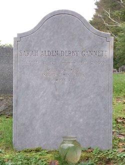 """Sarah Alden """"Aldie"""" <I>Derby</I> Gannett"""
