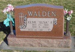 """Elsie F """"Elsa"""" Walden"""