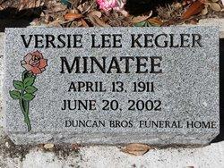 Versie Lee <I>Kegler</I> Minatee