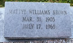 Mattye <I>Williams</I> Brown