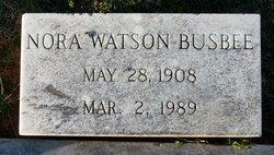 Nora <I>Watson</I> Busbee