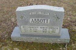Menty Margaret <I>Copas</I> Abbott