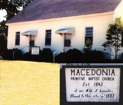 Macedonia Primitive Baptist Church Cemetery Old
