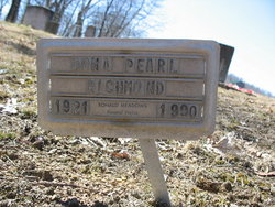 "Dona Pearl ""Donnie"" <I>Bennett</I> Richmond"