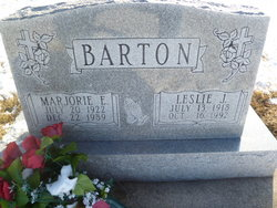 Marjorie E. <I>Hegwood</I> Barton
