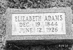 Elizabeth A <I>Ashby</I> Adams