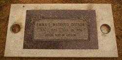"Emmaline Lucrica ""Emma"" <I>Murphy</I> Dotson"