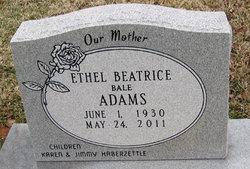 "Ethel Beatrice ""Bea"" <I>Bale</I> Adams"