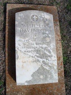 """Alston Lee """"Alsie"""" Davenport"""