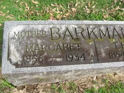 Margaret <I>Cain</I> Barkman
