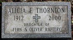 Alicia F <I>Raftery</I> Thornton
