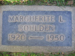 Marguerite L <I>Rice</I> Boulden
