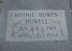 Minnie <I>Bowen</I> Howell