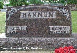 "Ralph U ""Tip"" Hannum"