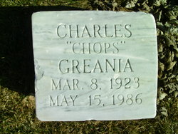 """Charles Donald """"Chops"""" Greania"""