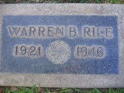 Warren B Rice