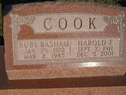 Ruby <I>Basham</I> Cook