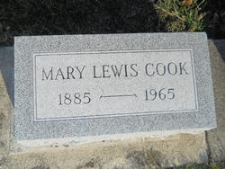 Mary <I>Lewis</I> Cook