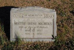 Mattie Irene <I>Meeks</I> Nichols