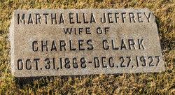 Martha Ella <I>Jeffrey</I> Clark