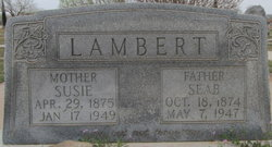 """Mary Susan """"Susie"""" <I>Brasher</I> Lambert"""