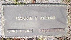 Carrie E Allday