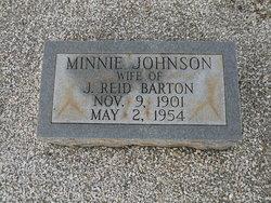Minnie Lou <I>Johnson</I> Barton