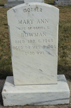 Mary Ann <I>Musser</I> Bowman
