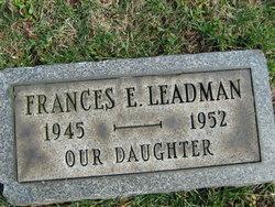 """Frances Elizabeth """"Frannie"""" Leadman"""