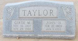 Gertie <I>Miller</I> Taylor