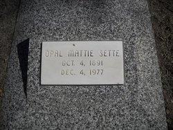 Opal Mattie <I>Christy</I> Sette