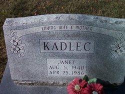 Janet <I>Evenson</I> Kadlec