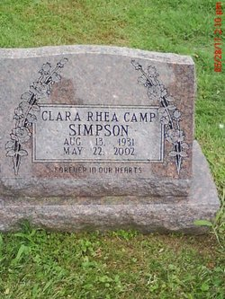 Clara Rhea <I>Camp</I> Simpson