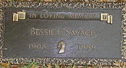 Bessie E. <I>Tolleson</I> Savage