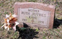 Ruth <I>Jeffries</I> Kahl