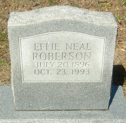 Effie <I>Neal</I> Roberson