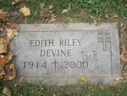 Edith <I>Riley</I> Devine