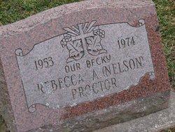 Rebecca A. <I>Nelson</I> Proctor