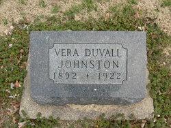 Vera <I>Duvall</I> Johnston