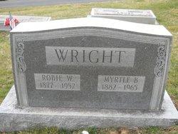 Myrtle B <I>Rhudy</I> Wright