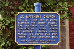 Saint Matthew's Evangelical Lutheran Church Cemete