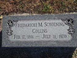 "Friedaricke Marie ""Frieda"" <I>Schoening</I> Collins"