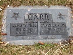 Margery Edna <I>Lindquist</I> Carr