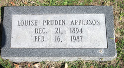 Louise <I>Pruden</I> Apperson