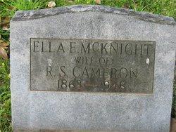 Ella Elizabeth <I>McKnight</I> Cameron