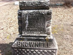 """Anna Cora """"Annie"""" <I>Whitney</I> Brownell"""