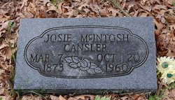 Josie <I>McIntosh</I> Cansler